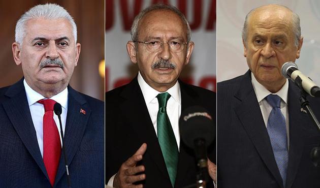 Yıldırım, Kılıçdaroğlu ve Bahçeli ile bir araya gelecek