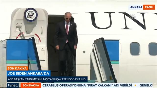 Biden Ankara'ya geldi