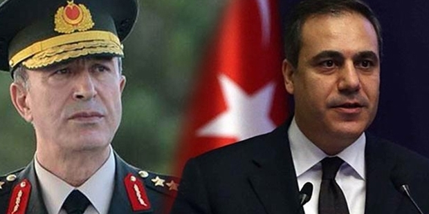 Hulusi Akar ve Hakan Fidan Başbakan'a gidiyor