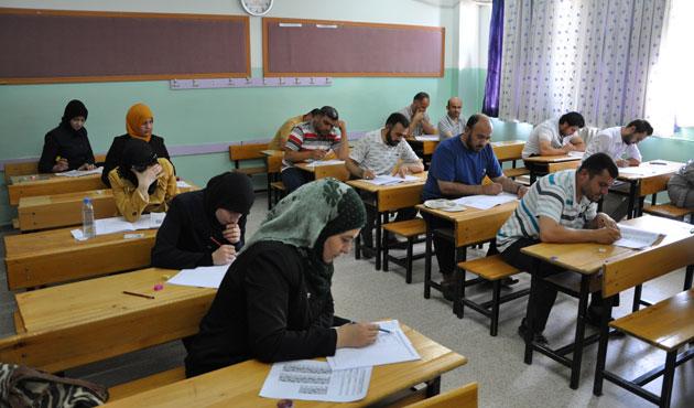 Suriyeli öğretmenler sınava alındı