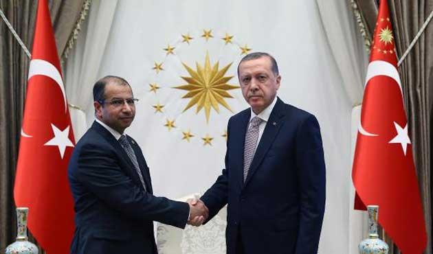 Erdoğan Irak Meclis Başkanı ile buluştu