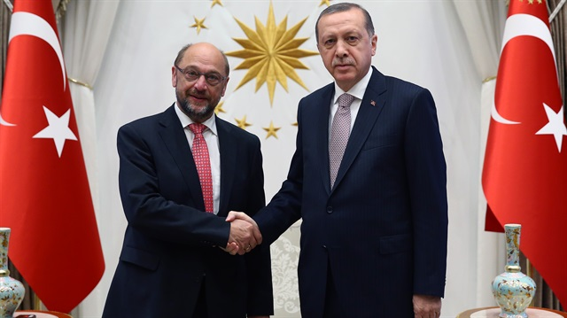 Cumhurbaşkanı Erdoğan Schultz'u kabul etti