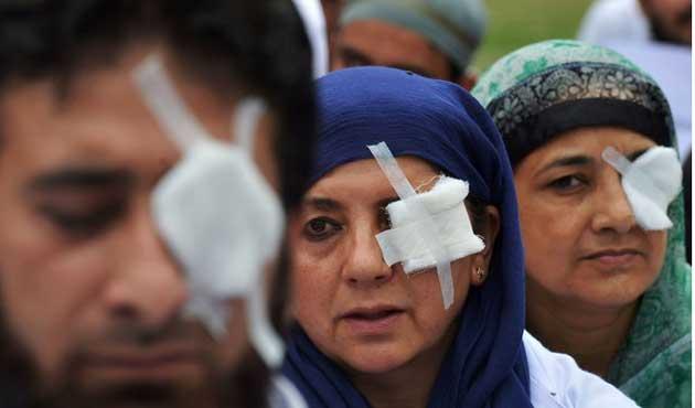 Hint askerine Keşmir'de Pellet silahı sınırlaması