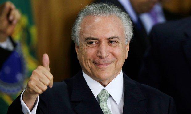 Brezilya'nın atanmış başkanı Temer Çin'de