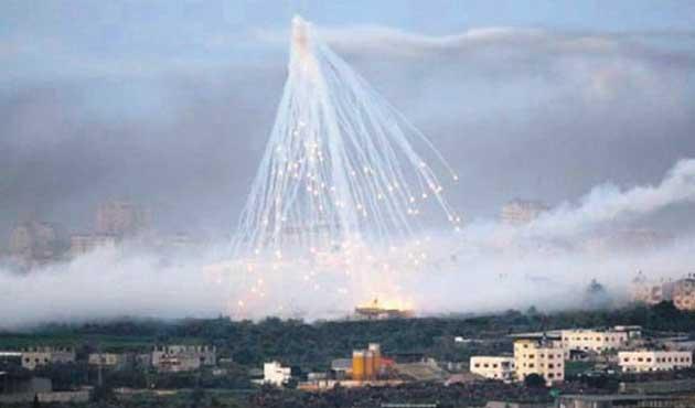 İdlib'de yerleşim yerine fosfor bombalı saldırı