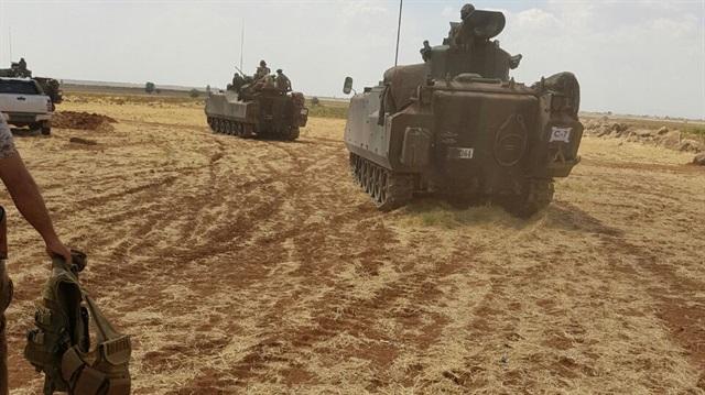 Türk tankları Çobanbey'de
