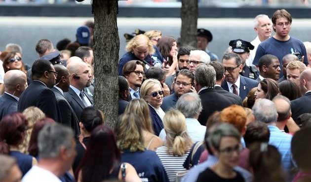 Clinton 11 Eylül töreninde fenalaştı