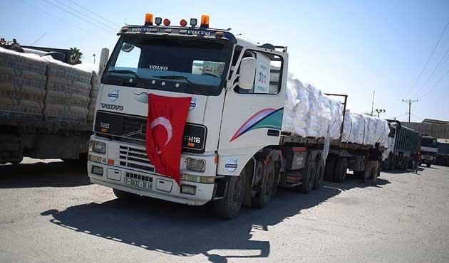 Türkiye yardımları Gazze'de