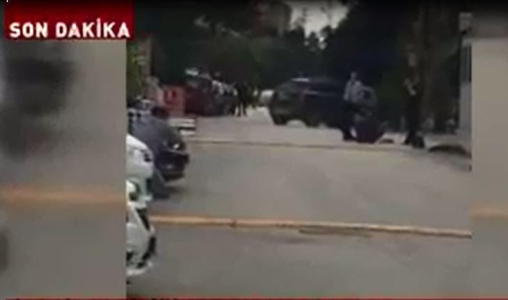 İsrail Büyükelçiliği önünde çatışma