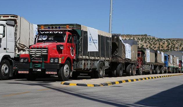 BM yardım konvoyu İdlib yolunda
