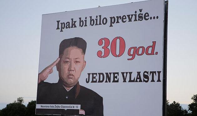 Kuzey Kore lideri Bosna'da seçim afişinde