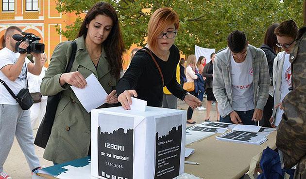 Mostar halkından sembolik seçim