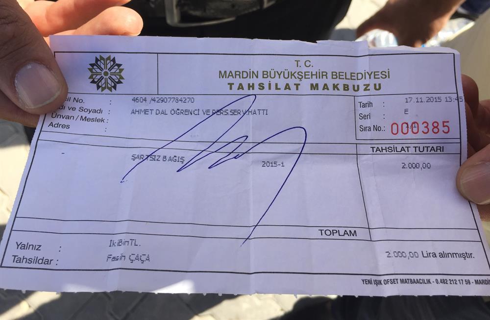 DBP'li belediyeye 'zorla bağış' protestosu