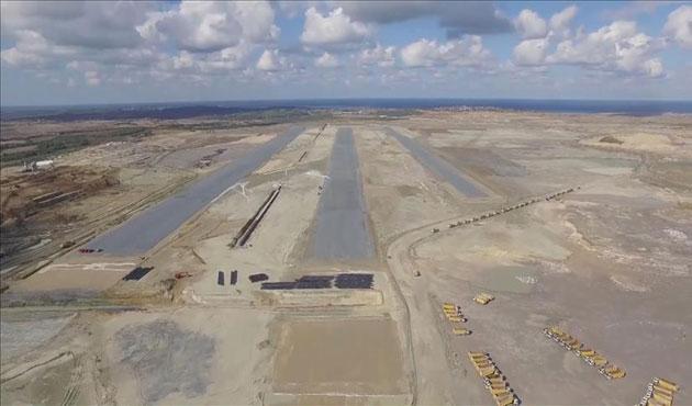 Üçüncü havalimanında ilk pist ortaya çıktı