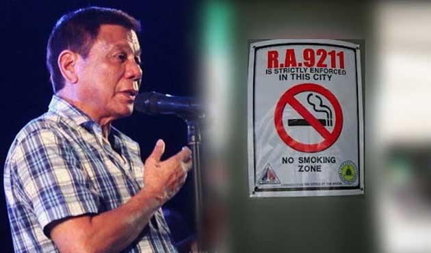 Duterte, halka açık alanlarda sigarayı yasaklıyor