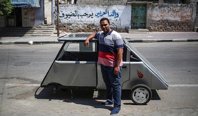 Gazzeli gençler güneş enerjili araç yaptı