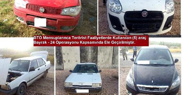 Bombalı eylem düzenleyecek 5 araç imha edildi