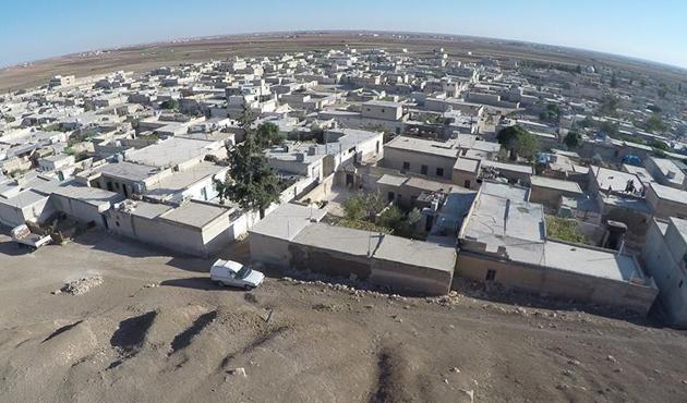 DEAŞ'tan alınan Dabık havadan görüntülendi | FOTO