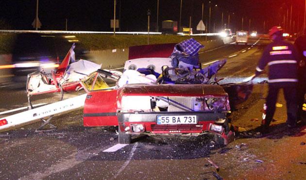 Bolu tüneli çıkışında kaza