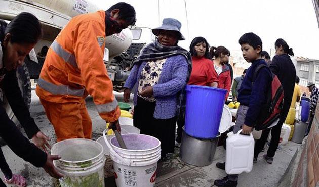 Bolivya'da susuzluk için acil durum