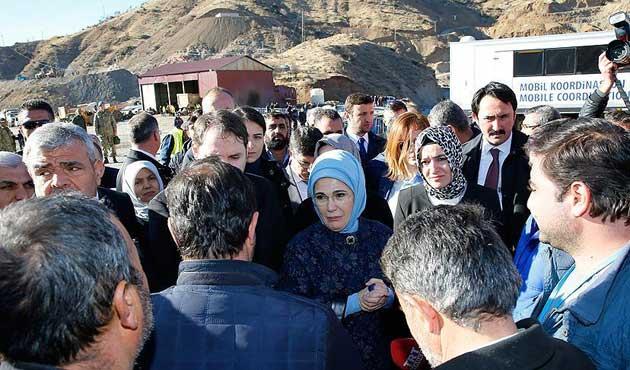 Emine Erdoğan, Siirt'teki maden faciası bölgesinde
