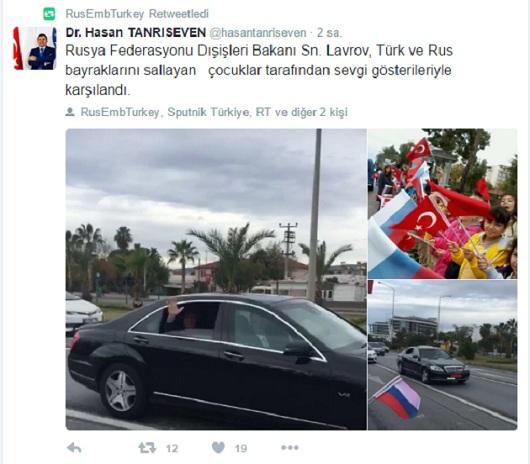 ABD ile Rus Büyükelçiliklerinden 'bayraklı' gönderme