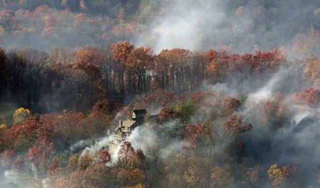 ABD'deki yangında bölge boşaltılıyor