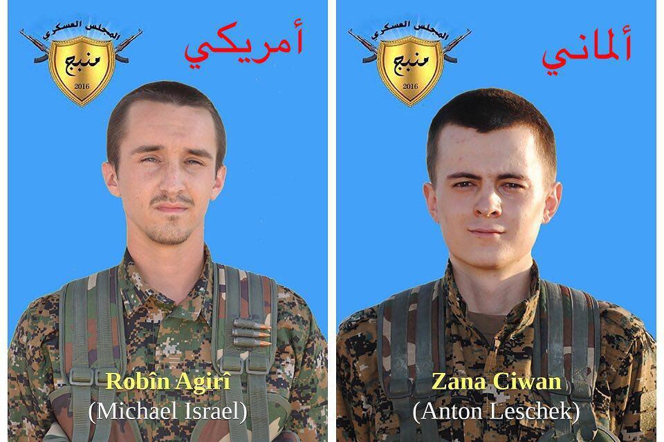 TSK, YPG saflarındaki Amerikalı ve Almanı öldürdü