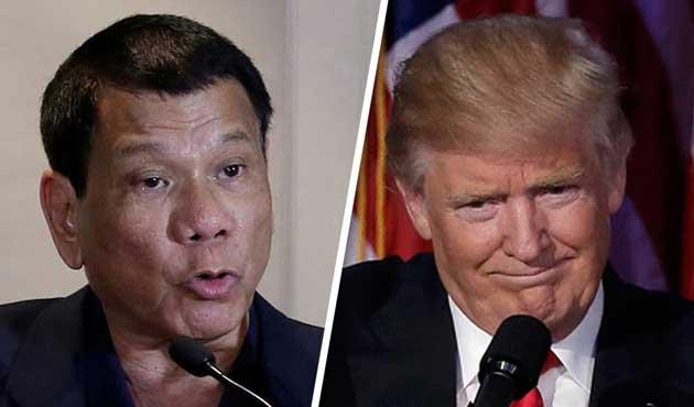 Duterte Trump'la görüştü