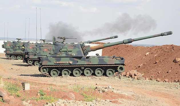 Fırat Kalkanı'nda 158 DEAŞ hedefi vuruldu