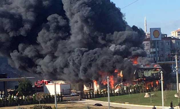 Bursa'da inşaat şantiyesinde yangın; 1 ölü