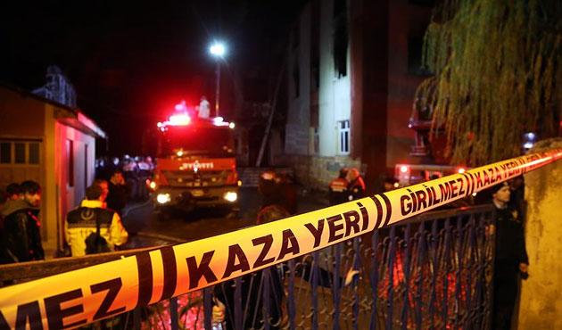 Tokat'ta kız öğrenci yurdunda yangın