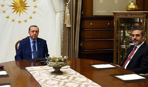 Erdoğan, MİT Müsteşarı Fidan'la görüştü