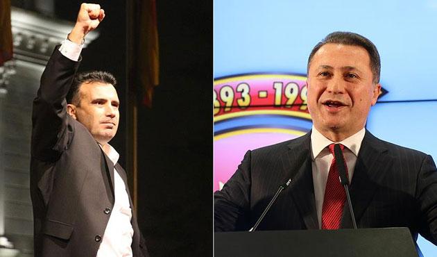 Makedonya'da iki lider de zafer ilan etti