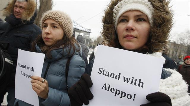 Sırbistan'da Suriye'ye destek mitingi düzenlendi