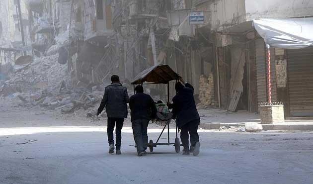 Kiev'de Halep protestosu