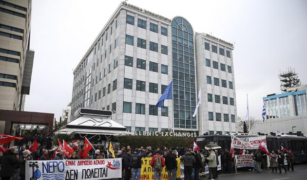 Yunanistan'da özelleştirme karşıtı gösteri