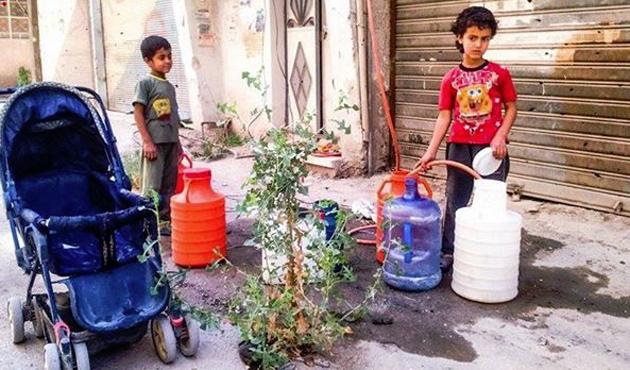 Şam'a üç gündür su verilmiyor