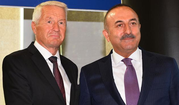 Çavuşoğlu Jagland ile Kıbrıs'ı görüştü