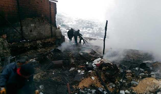 Karaman'daki yangın faciasında bir aile yok oldu