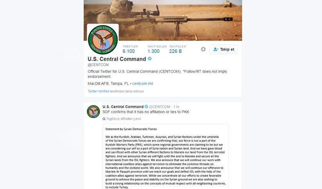 ABD'den PYD'ye 'Twitter' desteği