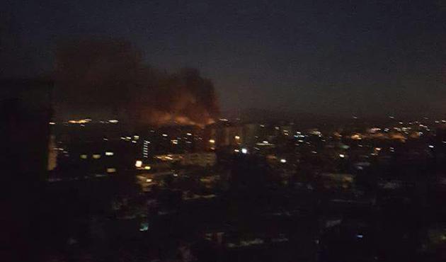 Şam'da askeri havaalanına saldırı
