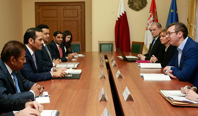 Katar Dışişleri Bakanı Al Sani Sırbistan'da