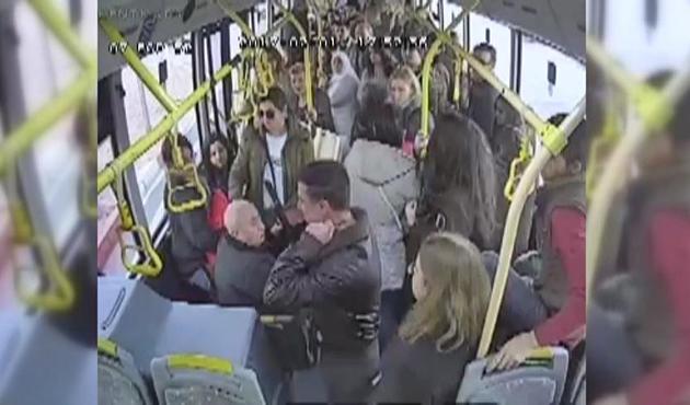 Halk otobüsünde bıçaklı tacizci operasyonu