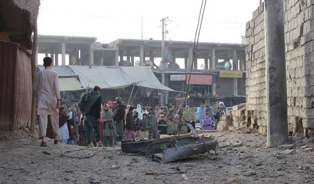 Afganistan'da banka yanında patlama