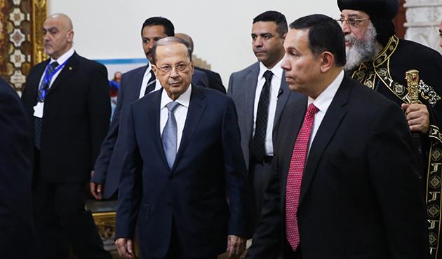 Lübnan Cumhurbaşkanı Avn, Sisi ile bir araya geldi