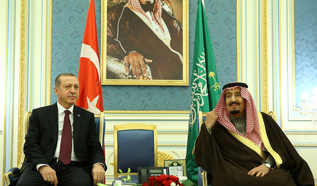 Erdoğan Suudi Arabistan'da