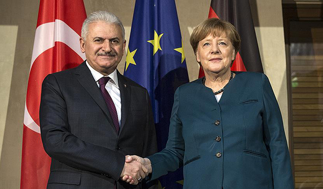 Başbakan Yıldırım, Almanya Başbakanı Merkel ile görüştü