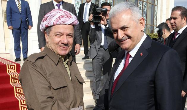 Yıldırım-Barzani ile görüştü