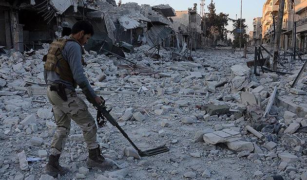 Bab'da mayınlar ve bomba düzenekleri temizleniyor | FOTO
